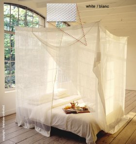 Rectangular Mosquito net 'Twin' white