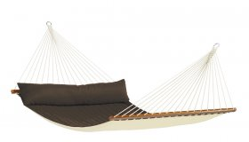 Brown Padded Hammock with spreader bar