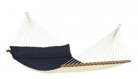 Blue Padded Hammock with spreader bar