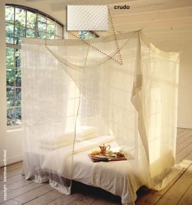 Rectangular Mosquito net 'Double' ecru